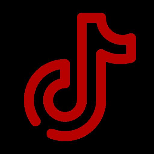 Logo Tiktok rouge (icône png)