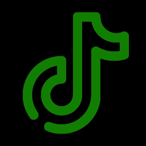 Logo Tiktok vert (icône png)