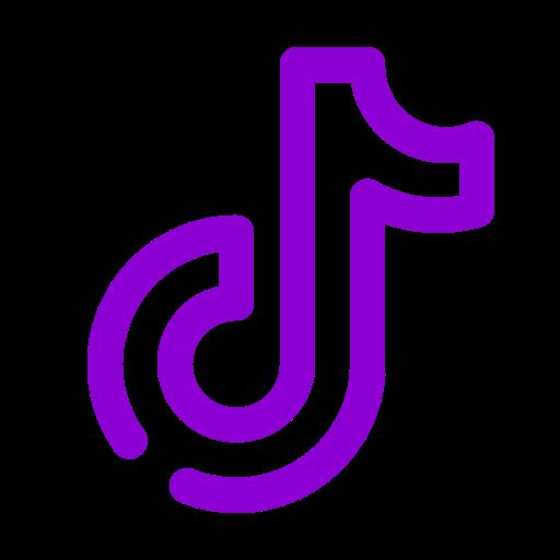 Logo Tiktok violet (icône png)