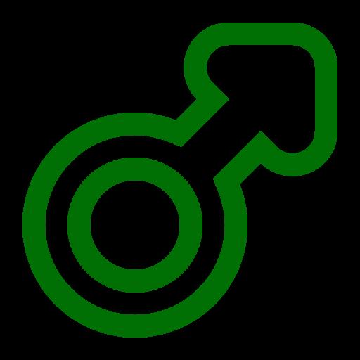 Symbole de genre masculin: icône verte