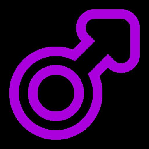 Symbole de genre masculin: icône violette