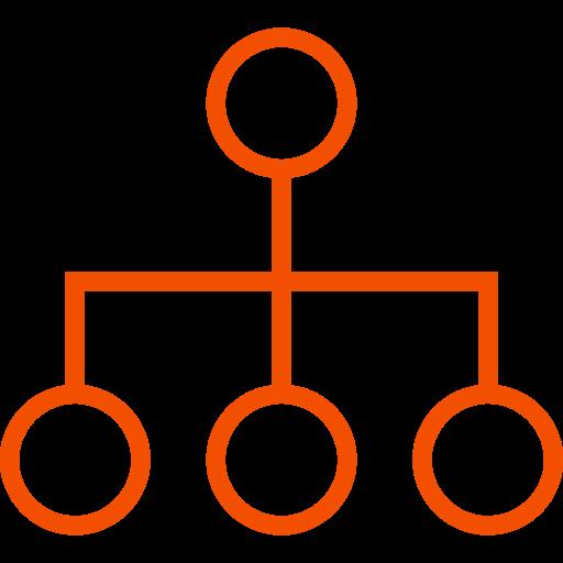 Symbole de groupe orange (symbole PNG)