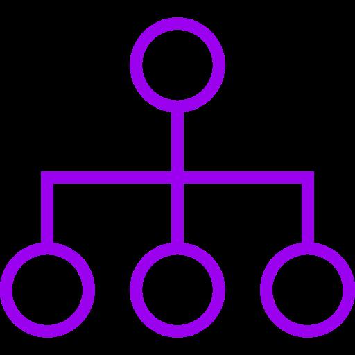 Symbole de groupe violet (symbole PNG)