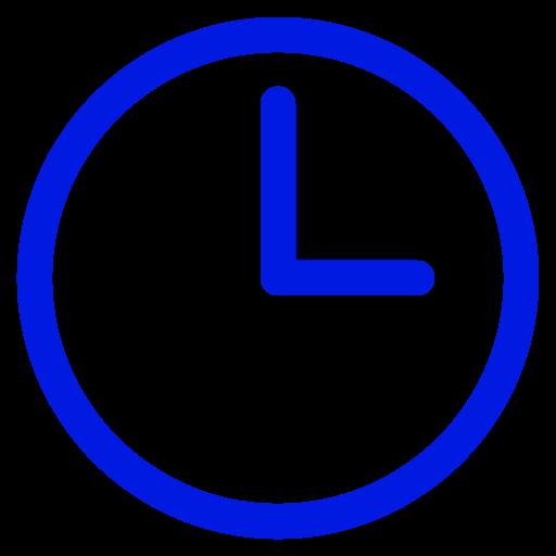 Symbole de l'horloge bleue