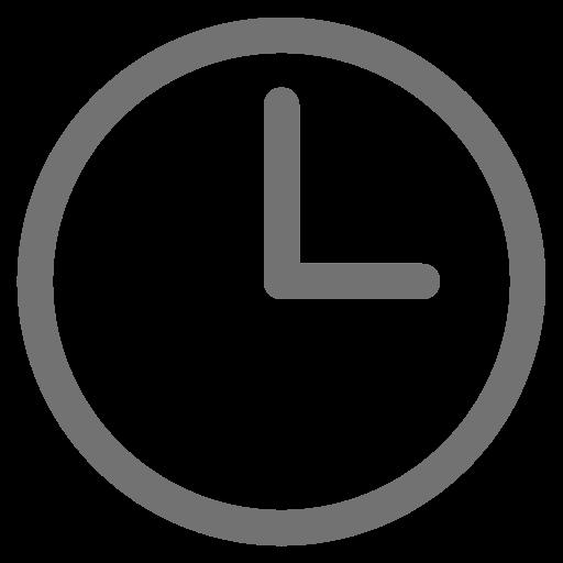 Symbole de l'horloge grise