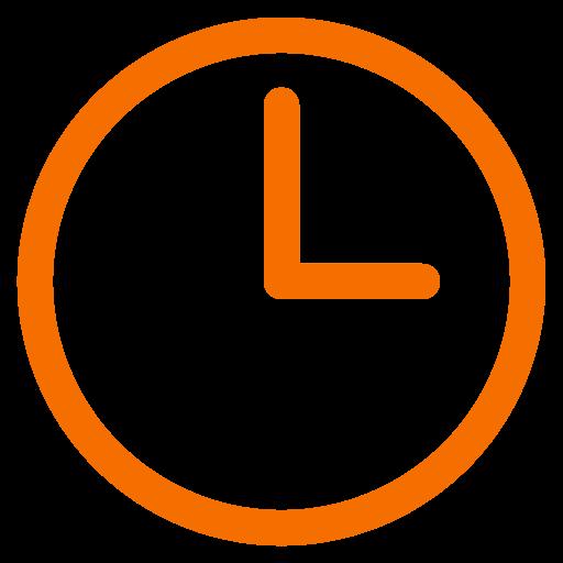 Symbole de l'horloge orange