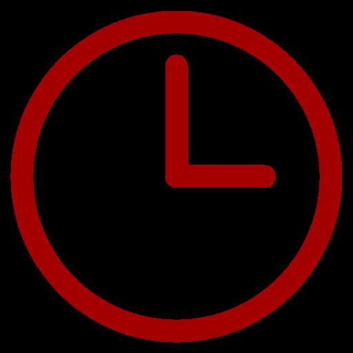 Symbole de l'horloge rouge