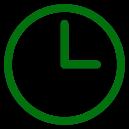 Symbole de l'horloge verte
