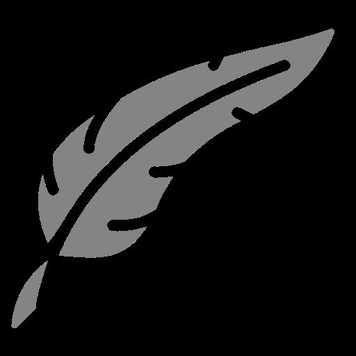 Symbole de plume png gris