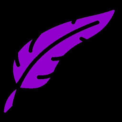 Symbole de plume png violet