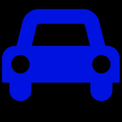 Symbole de voiture (icône png) bleu