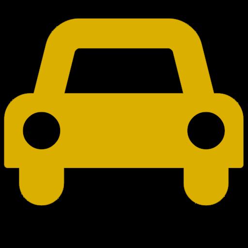 Symbole de voiture jaune (icône png)