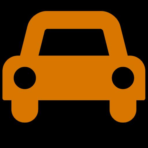 Symbole de voiture (icône png) orange