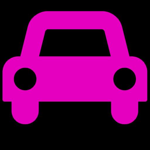 Symbole de voiture (icône png) rose