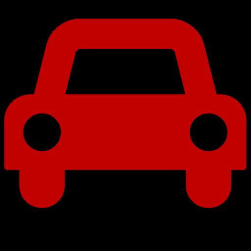 Symbole de voiture (icône png) rouge