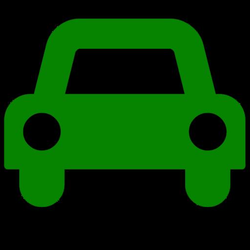 Symbole de voiture (icône png) vert