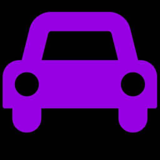 Symbole de voiture (icône png) violet
