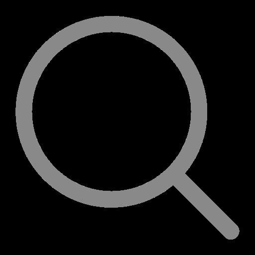 Symbole de zoom de la loupe grise