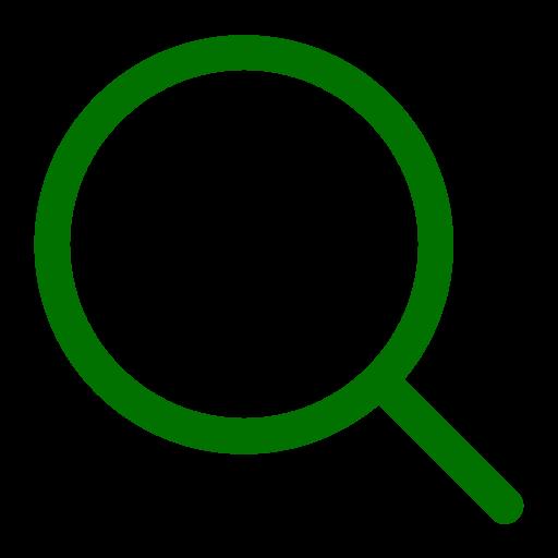 Symbole de zoom loupe verte