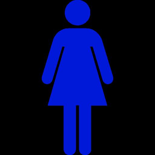 Symbole féminin: icône bleue