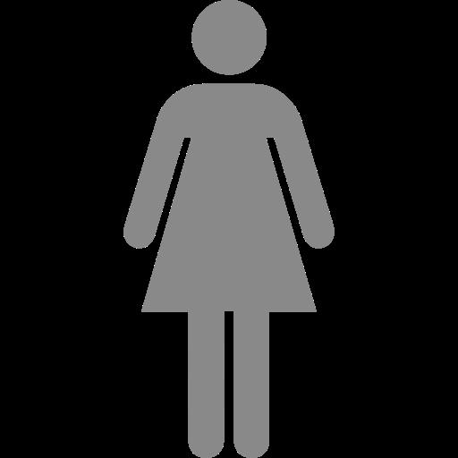 Symbole féminin: icône grise