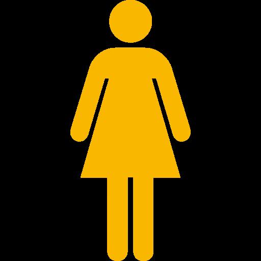 Symbole féminin: icône jaune