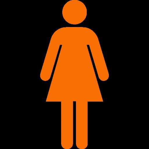 Symbole féminin: icône orange
