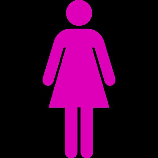Symbole féminin: icône rose