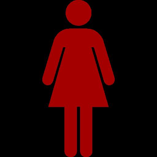 Symbole féminin: icône rouge