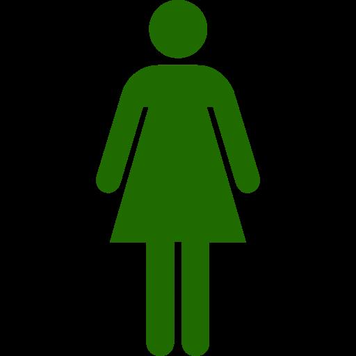 Symbole féminin: icône verte