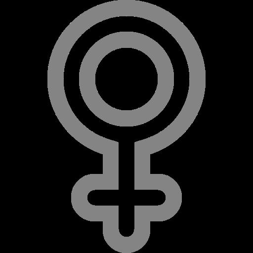 Symbole de genre féminin: icône grise