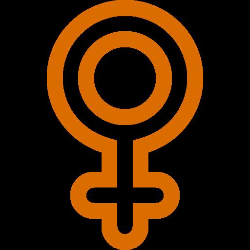 Symbole de genre féminin: icône orange