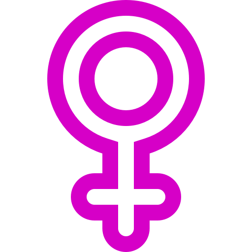 Symbole de genre féminin: icône rose