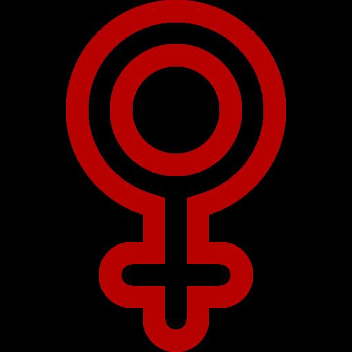 Symbole de genre féminin: icône rouge