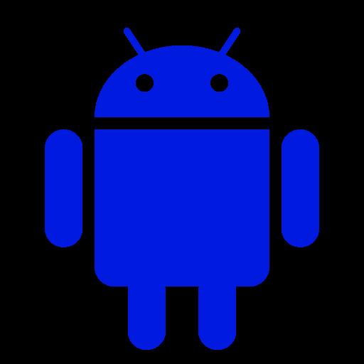 Icône Android (symbole du logo png) bleu