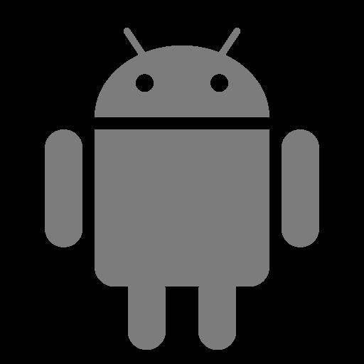 Icône Android (symbole du logo png) grise