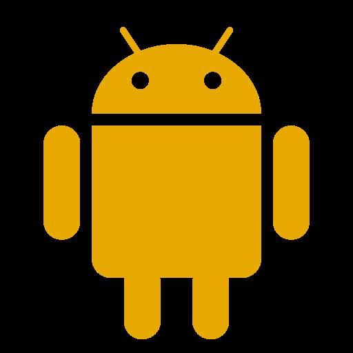 Icône Android (symbole du logo png) jaune