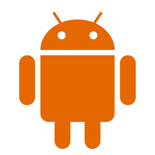 Icône Android (symbole du logo png) orange