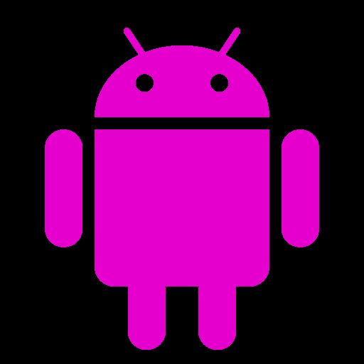 Icône Android (symbole du logo png) rose