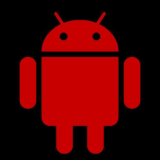 Icône Android (symbole du logo png) rouge