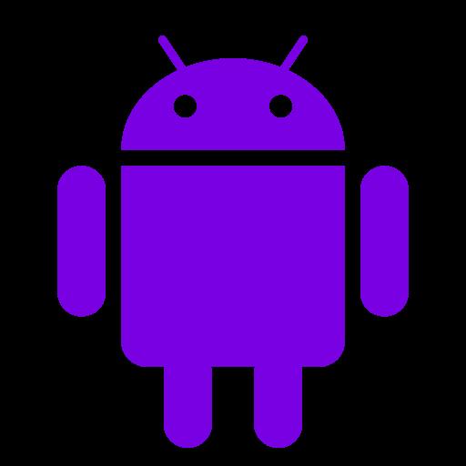 Icône Android (symbole du logo png) violet