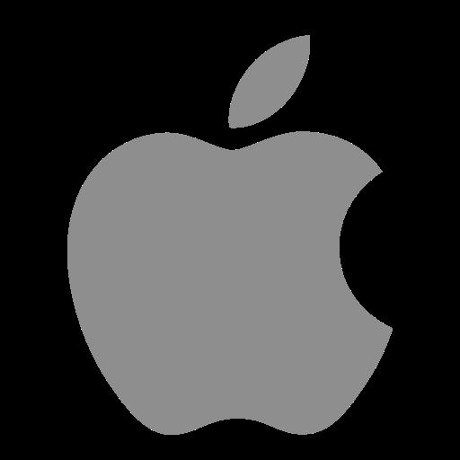 Icône Apple (symbole du logo) gris