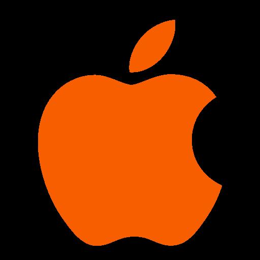 Icône Apple (symbole du logo) orange