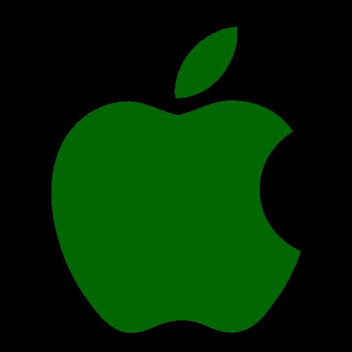 Icône Apple (symbole du logo) vert