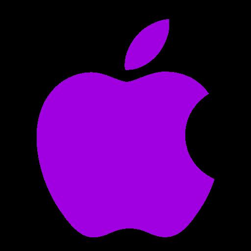 Icône Apple (symbole du logo) violet