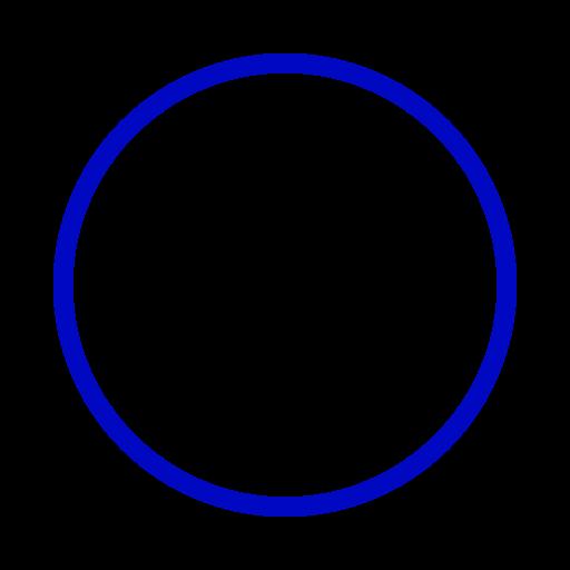 Icône de cercle bleu (symbole png)