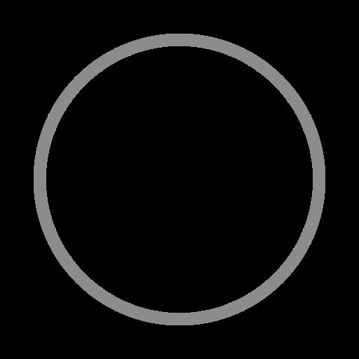 Icône de cercle gris (symbole png)