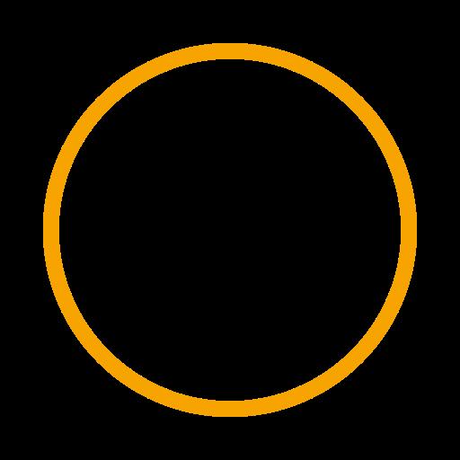Icône de cercle jaune (symbole png)