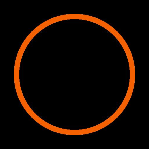 Icône de cercle orange (symbole png)