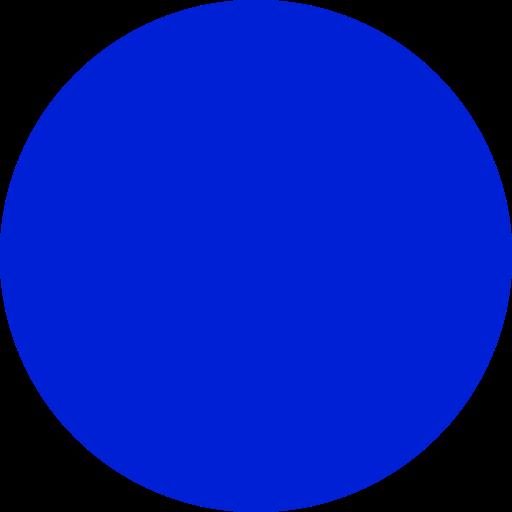 Icône de cercle rempli bleu (symbole png)